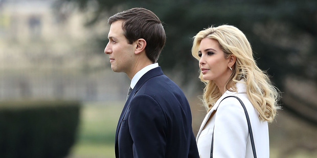 Loading Ivanka Trump walks with her husband, White House Senior Advisor Jared Kushner. Photo / Getty