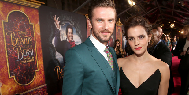 Actors Dan Stevens and Emma Watson arrive for the world premiere of Disney's Beauty and the Beast. Photo / Getty