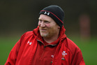 Wales coach Neil Jenkins raises a smile during training. Photo/Getty Images