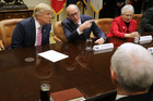 President Donald Trump discusses the healthcare plan With key house committee chairmen. Photo / Getty