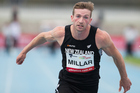 New Zealand sprinter Joseph Millar competing in the mens 100m. Photo / Photosport
