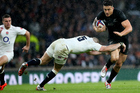 Sonny Bill Williams runs at the English defence the last time the two teams met. Photo / photosport.nz