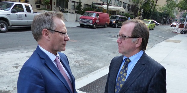 Gerard van Bohemen and Foreign Minister Murray McCully in New York. Photo Audrey Young