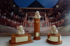The trophies for the Regional Shakespeare Festival.