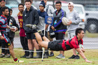 Whakarewarewa's Matt Garland dives over for his side's second try against fierce rivals Rotoiti on the weekend. Photo/Stephen Parker