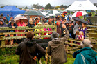 Stock is auctioned at Amelia's Family Fun Day in Brunswick, near Whanganui. Photo/Bevan Conley