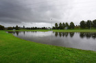 Flooding at Greerton Park after the weekend's deluge. Photo/George Novak.