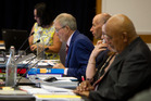 Independent hearing panel chairman Gordon Whiting (blue jacket) opened hearings into the regional council's controversial Lake Rotorua nutrient rules. Photo/Ben Fraser