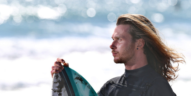 Brenden Nobili, 26, loves the interaction with the ocean that surfing provides. Photo/John Borren