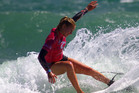 TOP FORM: Mount Maunganui surfer Elin Tawharu won the Billabong Grom Series Under-17 title off Tay Street on the weekend. PHOTO: Surf2Surf.com