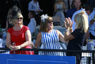 Punters at Auckland Cup Day, celebrate the racing and weather at Ellerslie racetrack. Photo / Nick Reed