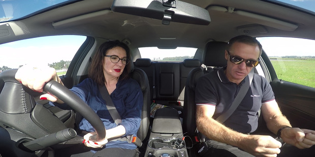 In the driver's seat with Greg beside me I notice I am nervous. But it's not as bad as I had anticipated. Photo / NZME