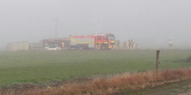 Emergency services were called to the property on SH5 in Rangitaiki at 2.49 this morning. Photo / Taupo &Turangi Weekender