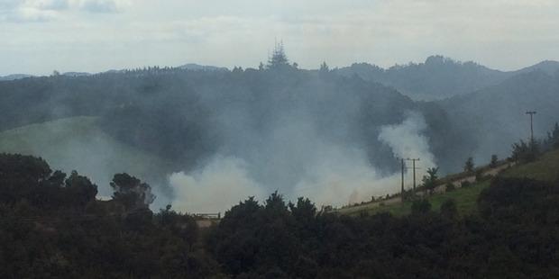 Loading Unattended fire in Karetu, Northland. Picture / Mercedes Stevenson