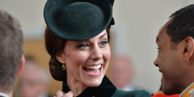 The Duke and Duchess of Cambridge visited The 1st Battalion Irish Guards for a special St Patrick's Day Parade. Photo / MOD