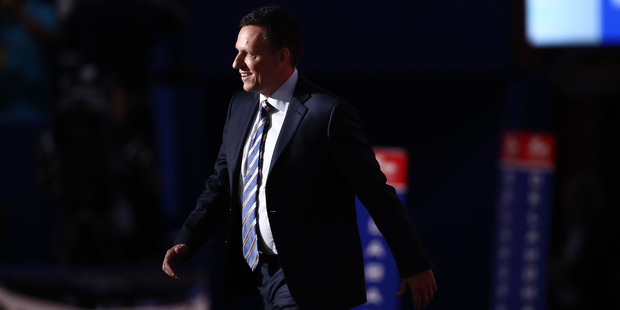 Peter Thiel, co-founder of PayPal Inc, is well known as an ally of Donald Trump. Photo / AP