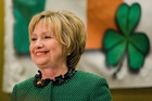 Hillary Clinton spoke at the Society of Irish Women's annual dinner on St. Patrick's Day in her late father's hometown in Scranton. Photo / AP
