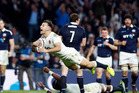 England's Danny Care scores his side's final try during the Six Nations international against Scotland. Photo/AP Photos