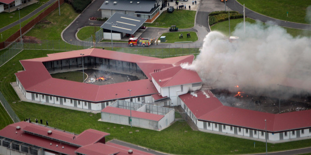 In June 2013, a massive riot at the north Waikato facility saw prisoners smash start fires and cause millions of dollars in damage. Photo / Doug Sherring