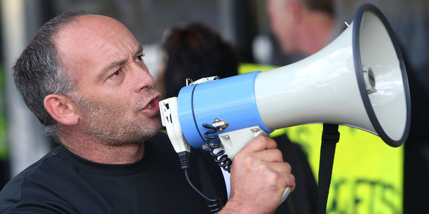 Daniel Ryder at an anti-CYF protest in 2011. Photo / Rotorua Daily Post.