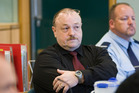 Arthur Taylor, centre, defending himself in the Auckland High Court. New Zealand Herald photograph