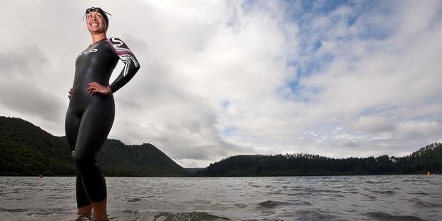 Mariana Morrison swam 11.5km from Motiti Island to Maketu in 2015 to raise money for Rotorua Hospice.  Photo/File