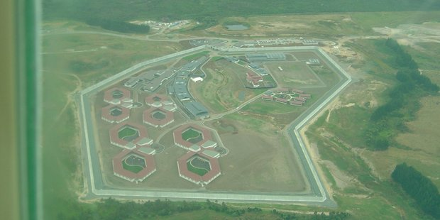 An aerial view of Northland Region Corrections Facility on opening day in March 2005. Photo / File