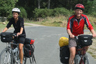 Dutch tourists cycled the Whanganui River Rd part of the trail in 2013. PHOTO/ FILE