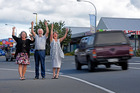 Katch Katikati's Jacqui Knight, Western Bay deputy mayor Mike Williams and Katikati Community Board chairwoman Jenny Hobbs are excited at news of a bypass for the area. Photo/file