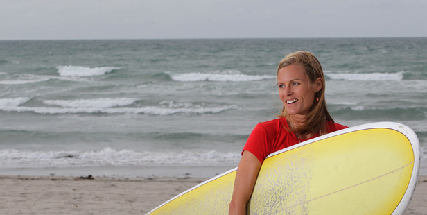 Rebecca Manning of Hibiscus Surf School says more women and children are taking up the sport. Photo/file