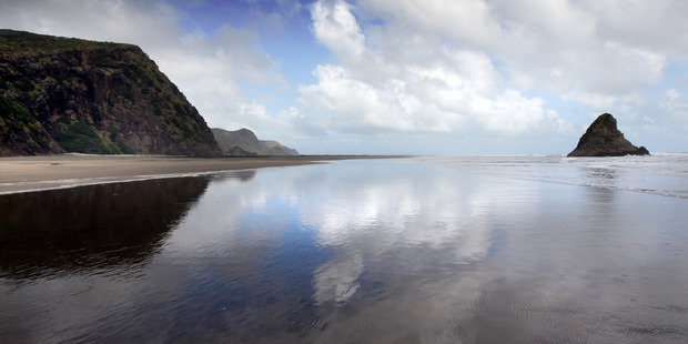 Karekare Beach on the West Coast of Auckland today. Photo / Doug Sherring