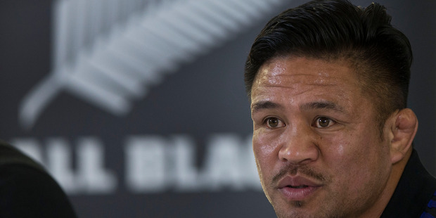 Loading All Blacks hooker Keven Mealamu during the press conference at the 2015 Rugby World Cup. Photo/Brett Phibbs
