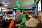 GREEN AND PROUD: Westshore Beach Inn manager Georgina Graham indulges in a bit of her native Ireland as she prepares for St Patrick's Day. PHOTO DUNCAN BROWN