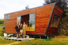 Progress of the tiny house build at Te Puna. It will be the new home for Tara and Leo Murray. Photos/Supplied
