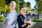 Tom Adams (left) and Bridget Robertson are young professionals in Hawke's Bay struggling to find houses to rent with friends. Photo/ Warren Buckland.