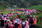 Hundreds march during the zest pink loop to raise awareness and funds for the Breast Cancer Support Northland Trust. PHOTO/SUPPLIED