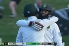 Footage from Sky.   Black Caps barely fire a shot as South Africa chase down 81 to win in Wellington.