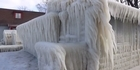 Watch: New York house encased in ice