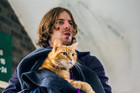 STAR: Luke Treadaway plays street busker and recovering herion addict James in A Street Cat Named Bob.
