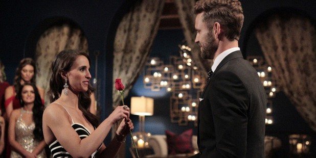 Vanessa and Nick in The Bachelor USA premiere.