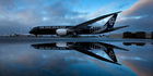 Air New Zealand's black Boeing 787. Photo / Brett Phibbs