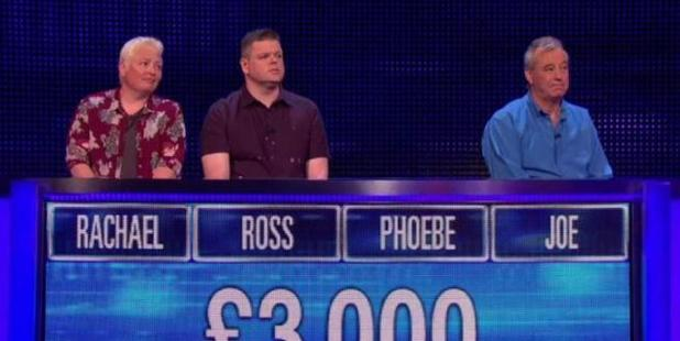 Fans were delighted when they spotted these contestants with the names of Friends characters. Photo / The Chase/ITV