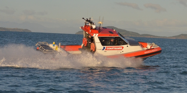 A woman's finger was nearly amputated when it became stuck in a boat's boarding ladder in the Hauraki Gulf this afternoon. Photo / Coastguard