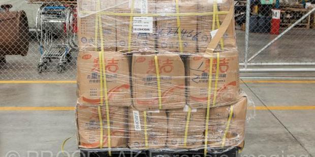 The drugs were labelled dishwashing liquid. Photo / NZ Police