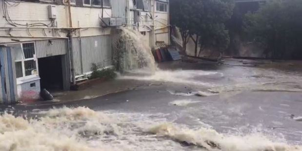 The Fire Service said a total of 10 people have been rescued from New Lynn. Photo / via video