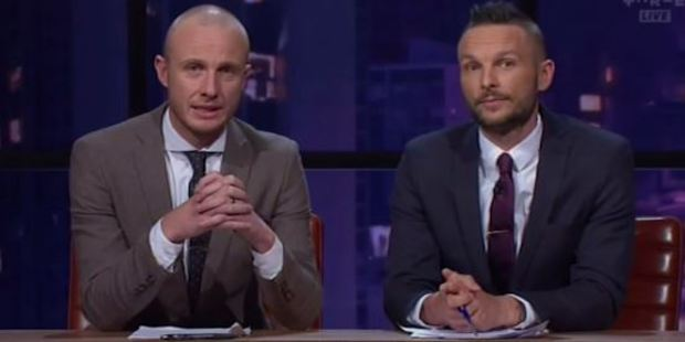Jono and Ben made an emotional plea at the close of their TV show. Photo / via MediaWorks