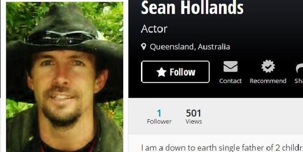 Sean's StarNow profile. Photo / starnow.com.au