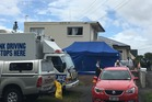 A woman appeared in the Hamilton District Court today charged with the murder of a 55-year-old man after an allleged incident in this Te Aroha St, Hamilton, flat on Saturday night. Photo/Nikki Preston