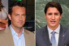 Actor Matthew Perry and Canadian Prime Minister Justin Trudeau. Photos / Getty