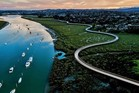 An artist's impression of the Te Whau Pathway along the coastal strip of the Whau River. Source: Auckland Transport